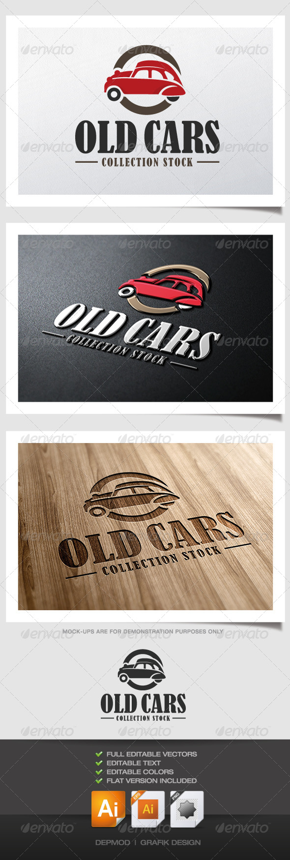 GraphicRiver Old Cars Logo 4458290