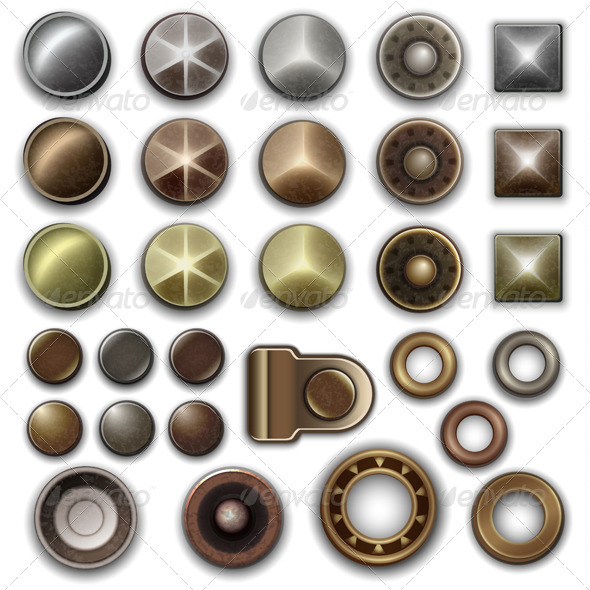 GraphicRiver Metal Accessories Collection 4458382