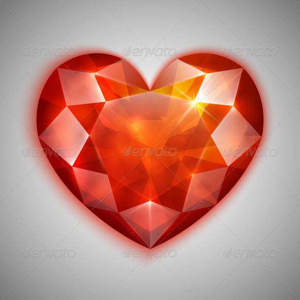 GraphicRiver Ruby Heart 4458417