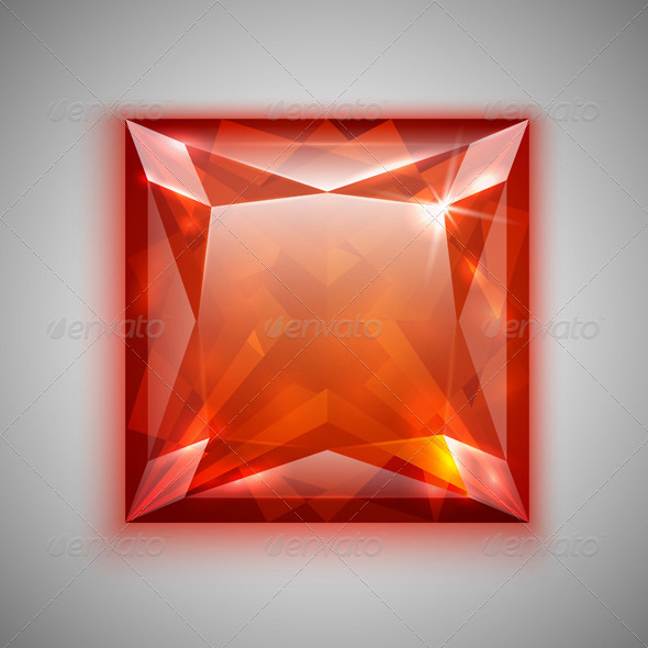 GraphicRiver Princess Cut Ruby 4458423