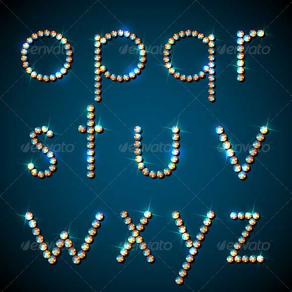 GraphicRiver Shiny Diamond Alphabet Letters Lower Case Version 4458425
