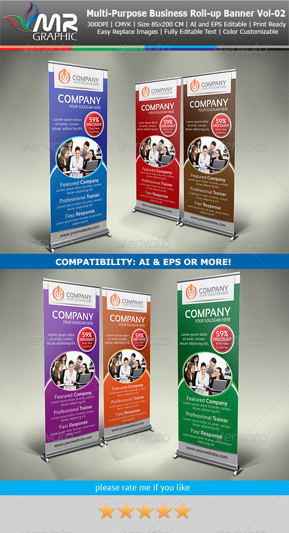 GraphicRiver Multipurpose Business Roll-Up Banner Vol-02 4123543