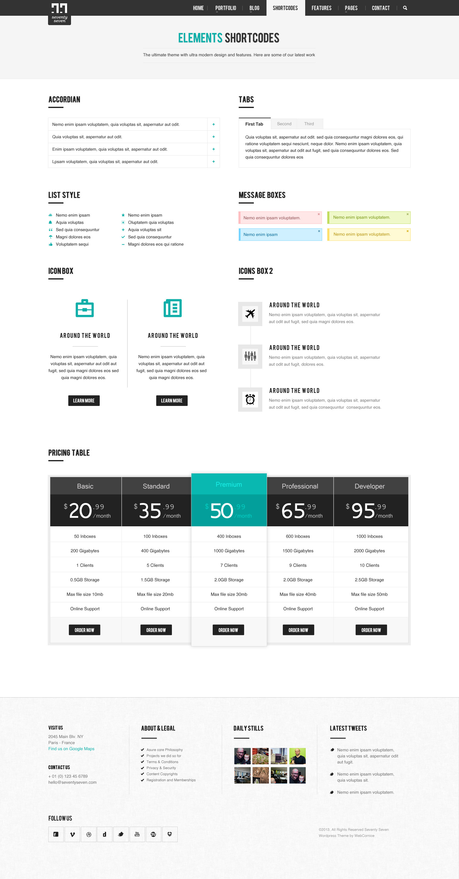 SEVENTY SEVEN - Multi Purpose PSD Template