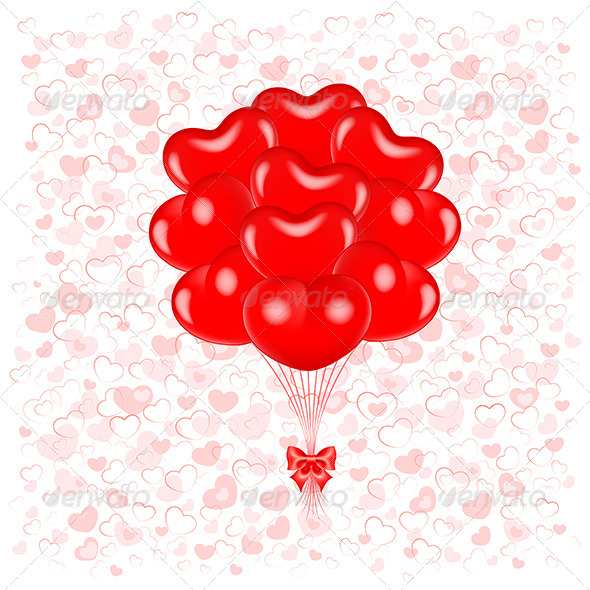 GraphicRiver Red Balloons 4458575