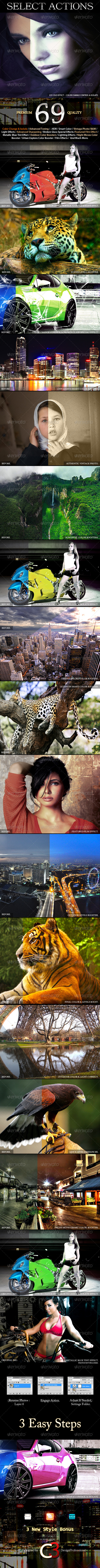 GraphicRiver 69 Best Selected Photo Actions 4458633