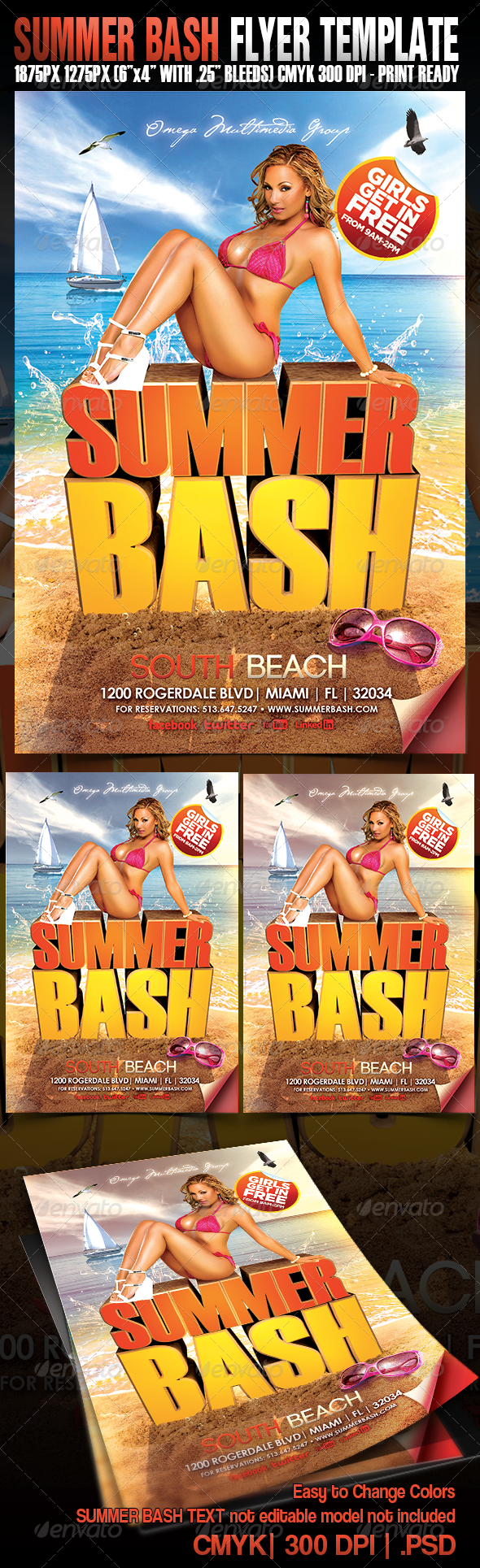 Summer Bash Flyer - Events Flyers