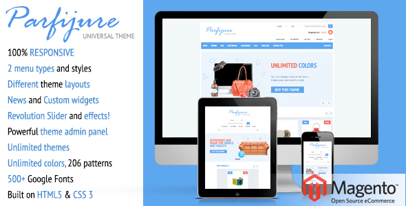 Download Parfijure – Responsive Magento theme! nulled download