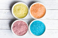 different colours of bath salt - PhotoDune Item for Sale