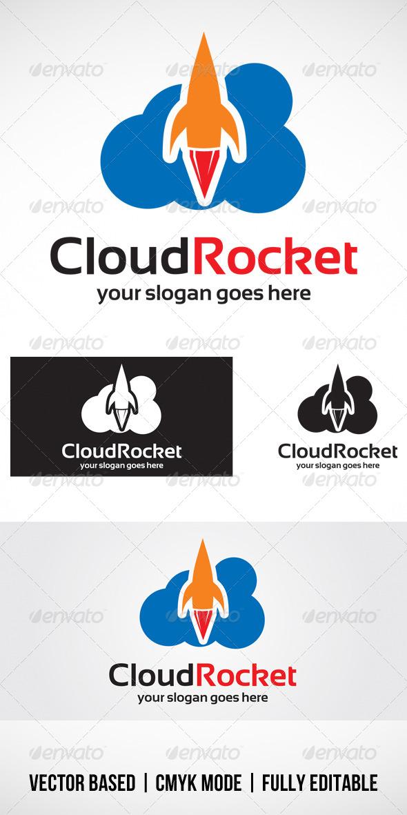 GraphicRiver Cloud Rocket logo 4364110