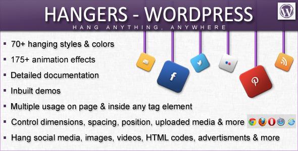 CodeCanyon Hangers WordPress [Hang Anything Anywhere] 4445915