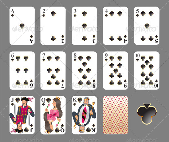 GraphicRiver Playing Cards Club Suit 4463337