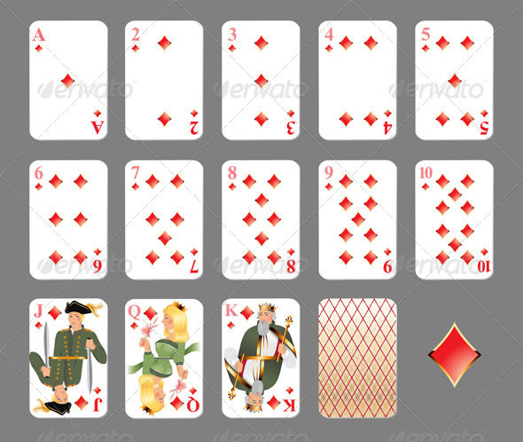 GraphicRiver Playing Cards Diamond Suit 4463364