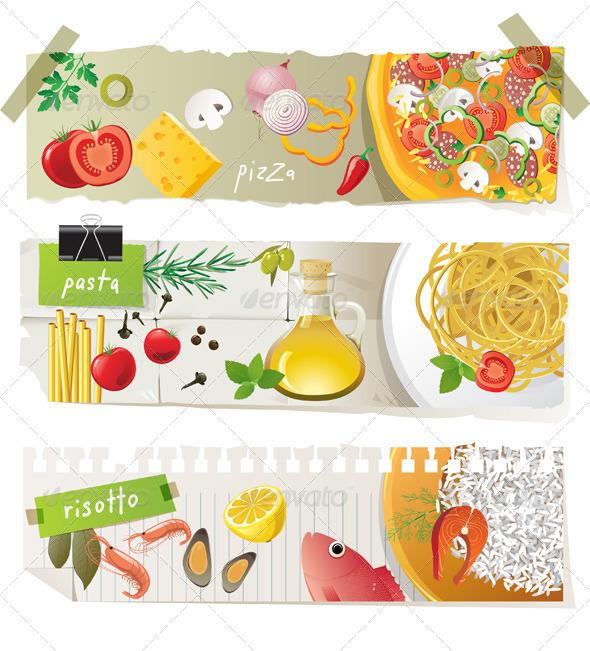 GraphicRiver Italian Cuisine Dishes 4463377