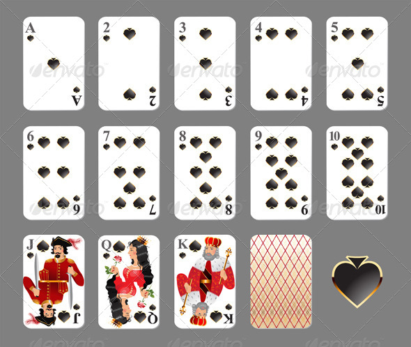 GraphicRiver Playing Cards Spade Suit 4463399