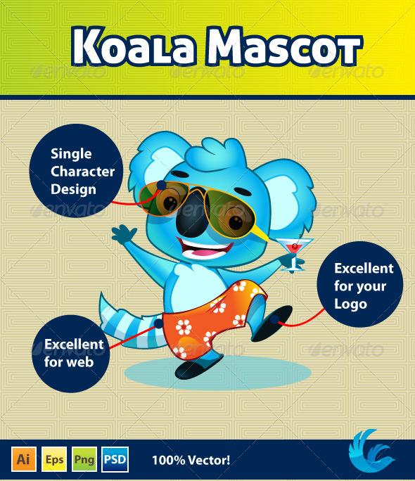 GraphicRiver Koala Mascot 4463463