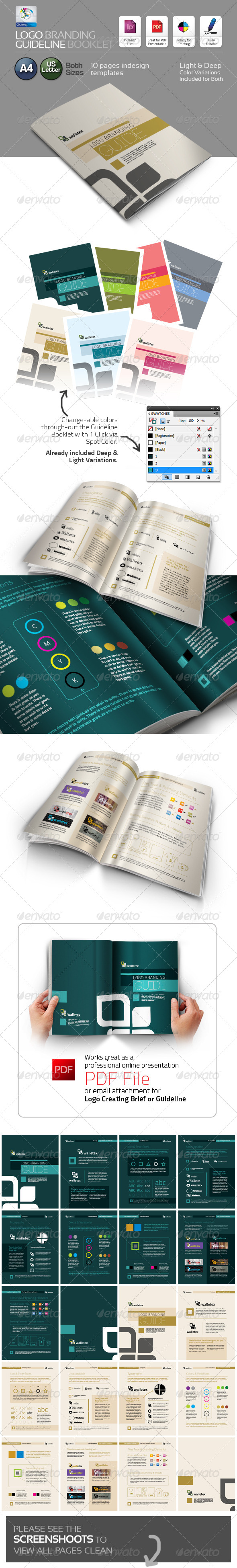 Logo Branding Guideline Booklet - Proposals & Invoices Stationery