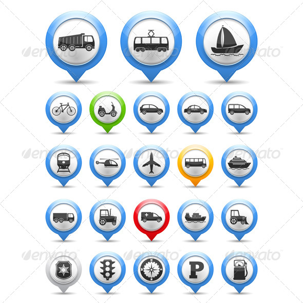 GraphicRiver Transport Icons 4463530