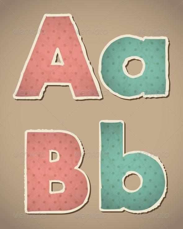 GraphicRiver Retro Paper Alphabet 4463824