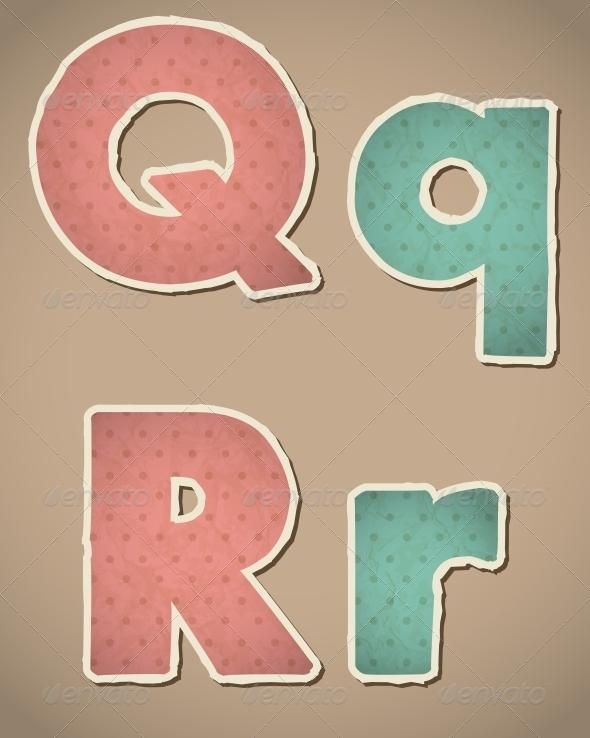GraphicRiver Retro Paper Alphabet 4463842