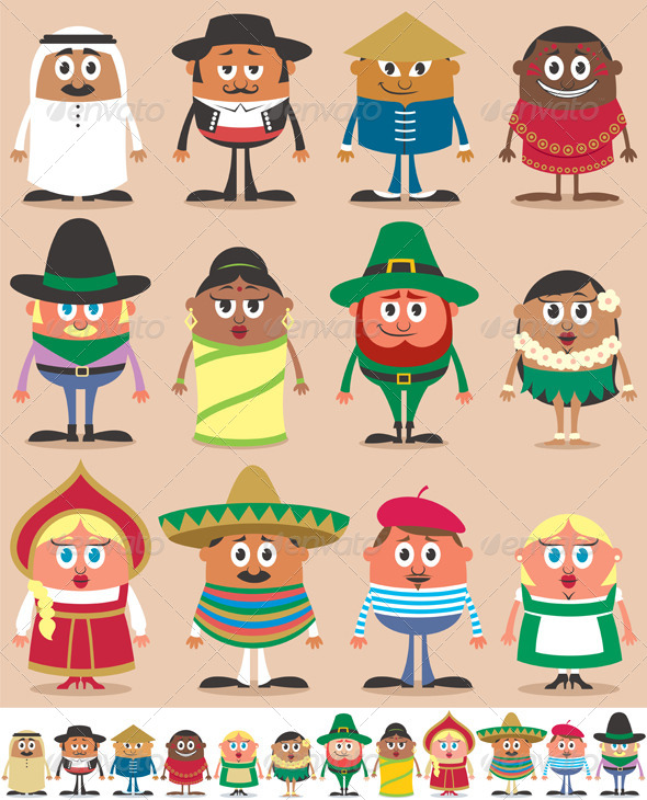 Nationalities Part 1 - People Characters