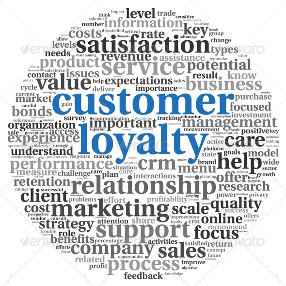 Customer loyalty concept on white - Stock Photo - Images