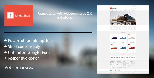 ThemeForest TenderShop Minimal Wordpress eCommerce Theme 4465396