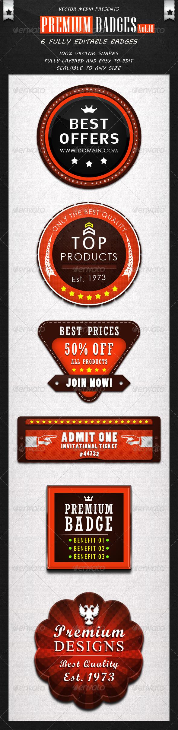 GraphicRiver Premium Badges Vol.10 4465677