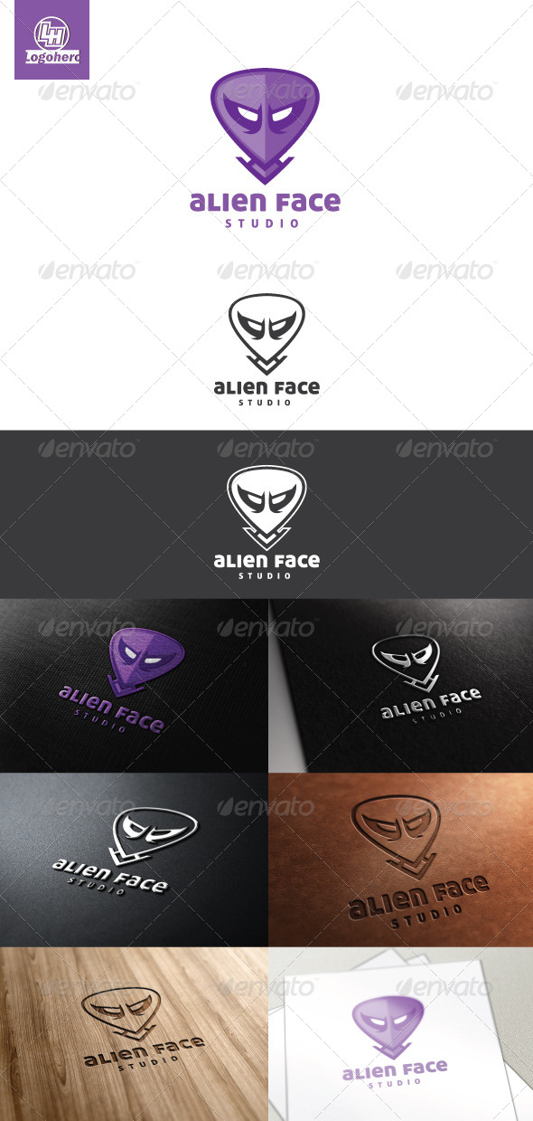 GraphicRiver Alien Face Logo Template 4465802