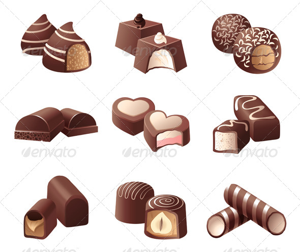 GraphicRiver Chocolate Candies 4465817