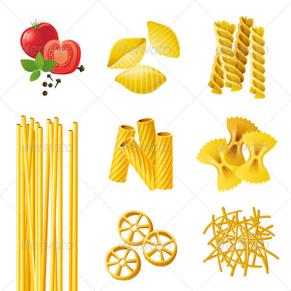 GraphicRiver Different Pasta Types 4465969