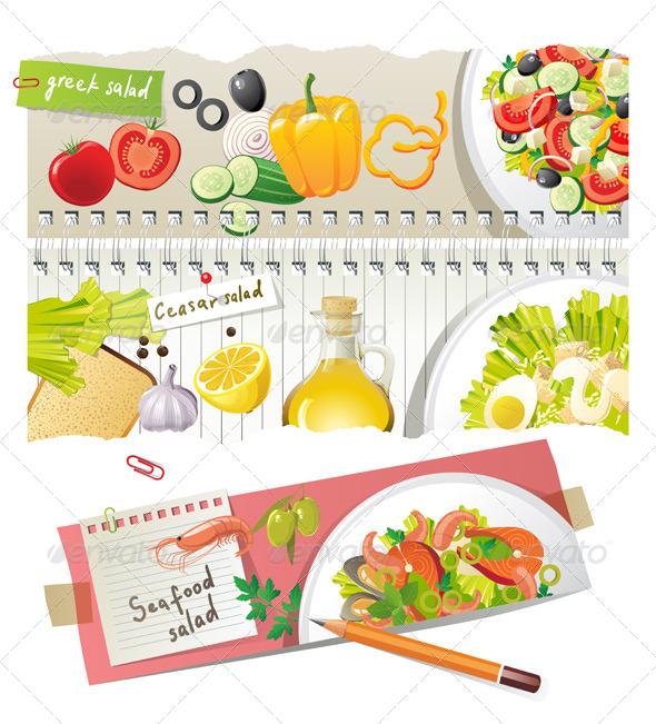 GraphicRiver Salads Recipes 4465979