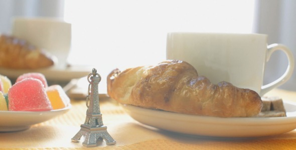 French Breakfast with Eiffel Tower