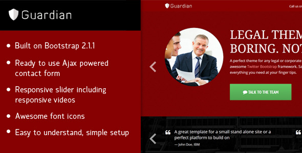 Guardian- Responsive legal theme
