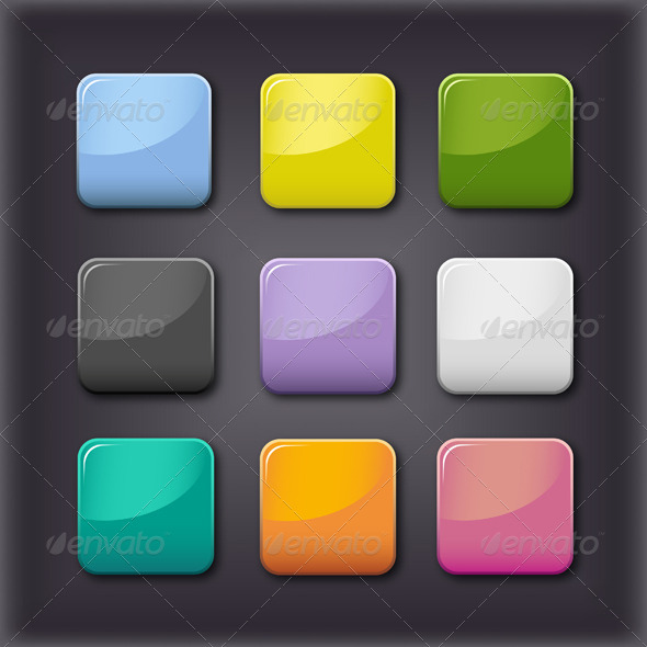 GraphicRiver Vector Glass Buttons 4466480