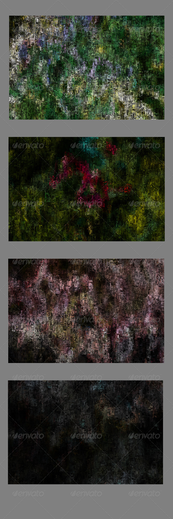 4 Grunge Backgrounds - Abstract Backgrounds