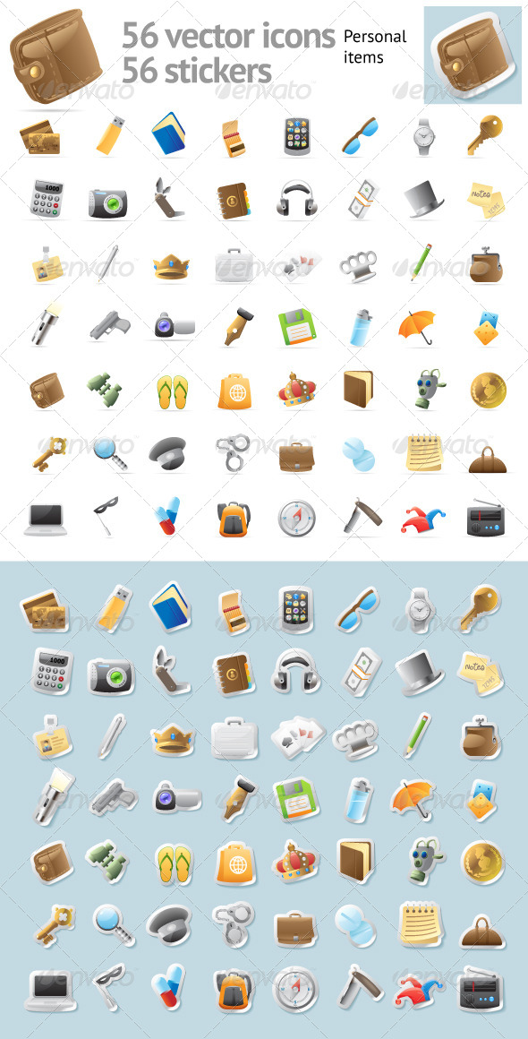 Vector Icons for Personal Items