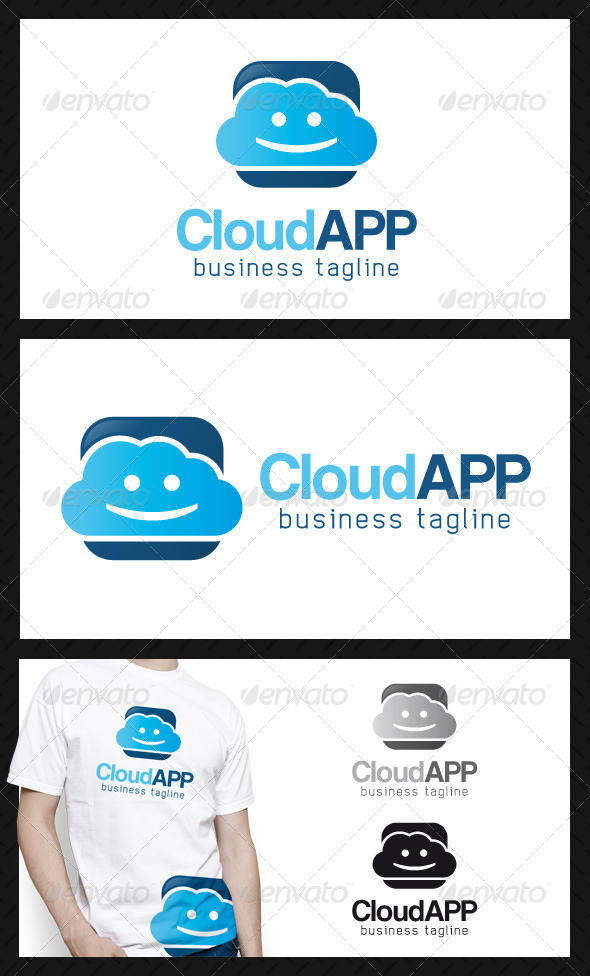 GraphicRiver Happy Cloud App Logo Template 4467258