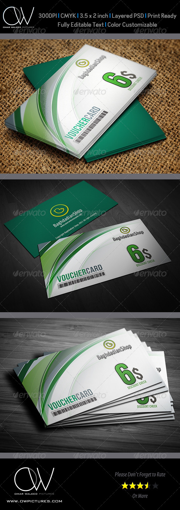 GraphicRiver Gift Voucher Card Vol.4 4373021