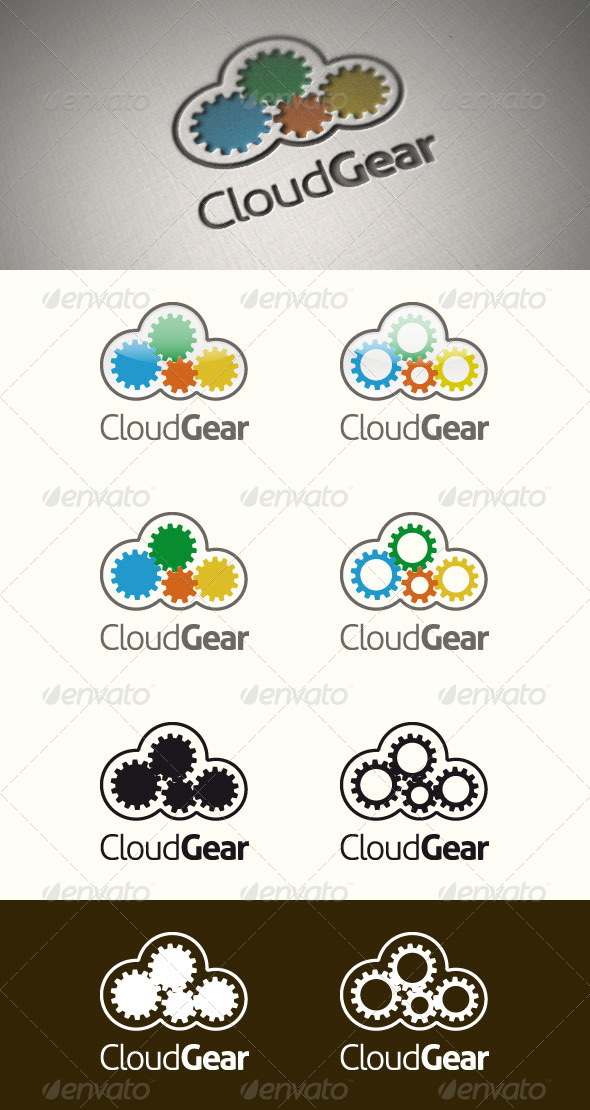 GraphicRiver Cloud Gear Logo Template 4374239