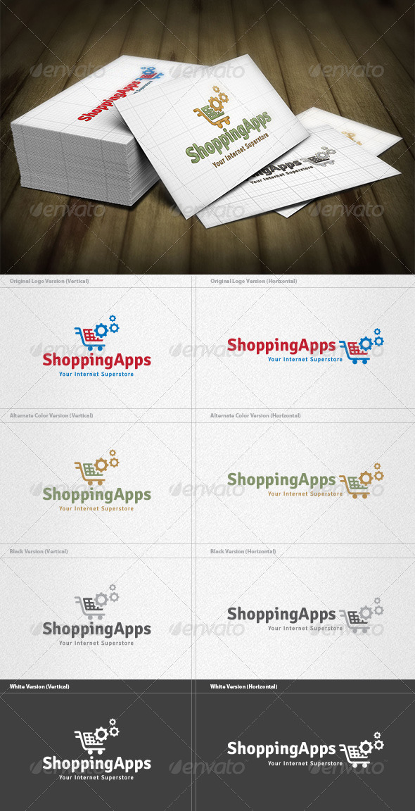 GraphicRiver Shopping Apps Logo 4467425