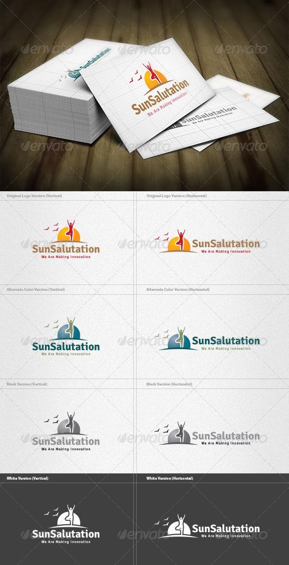 GraphicRiver Sun Salutation Logo 4467426