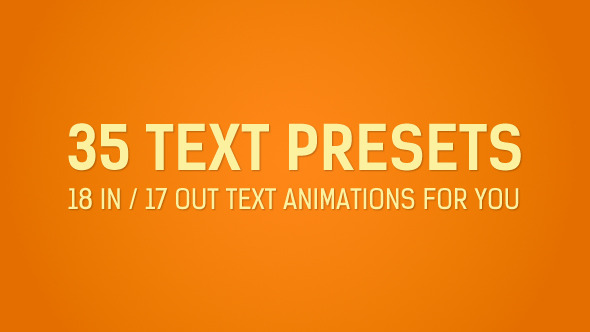 35 Text Presets