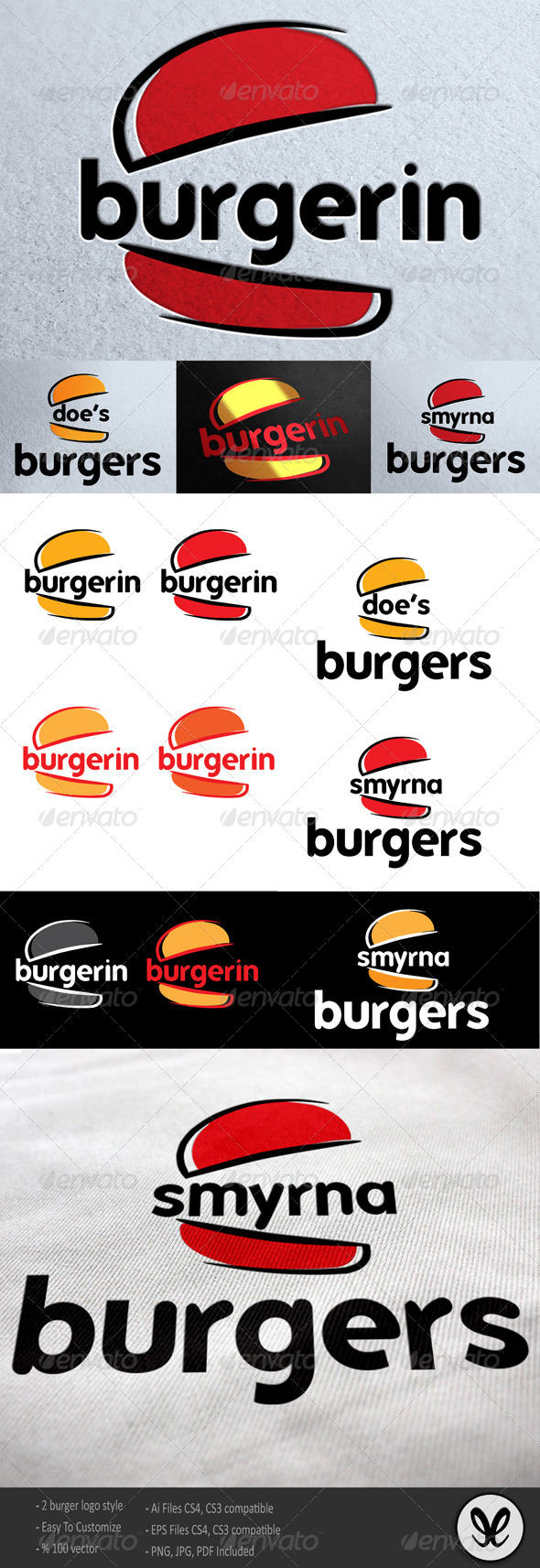 Burger Logo Template / Burgerin - Food Logo Templates