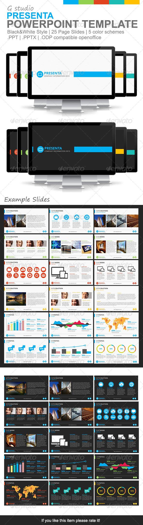 Gstudio Presenta Powerpoint Template - Powerpoint Templates Presentation Templates