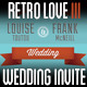 Retro Love Wedding Invite III - GraphicRiver Item for Sale