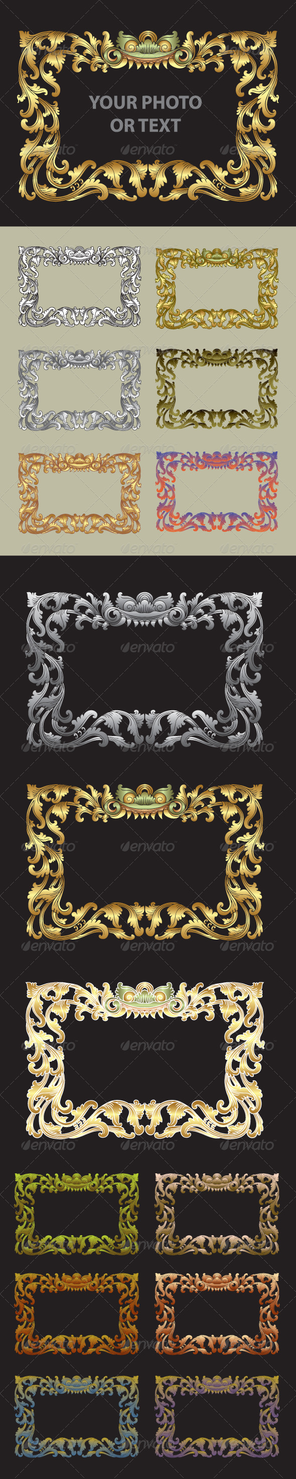 GraphicRiver Balinese Traditional Ornament Frame 4468825