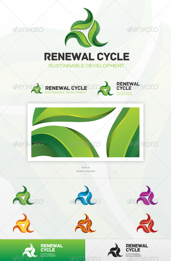 Renewal Cycle - Nature Logo Templates