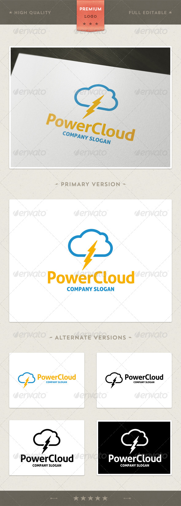GraphicRiver Power Cloud 4471089
