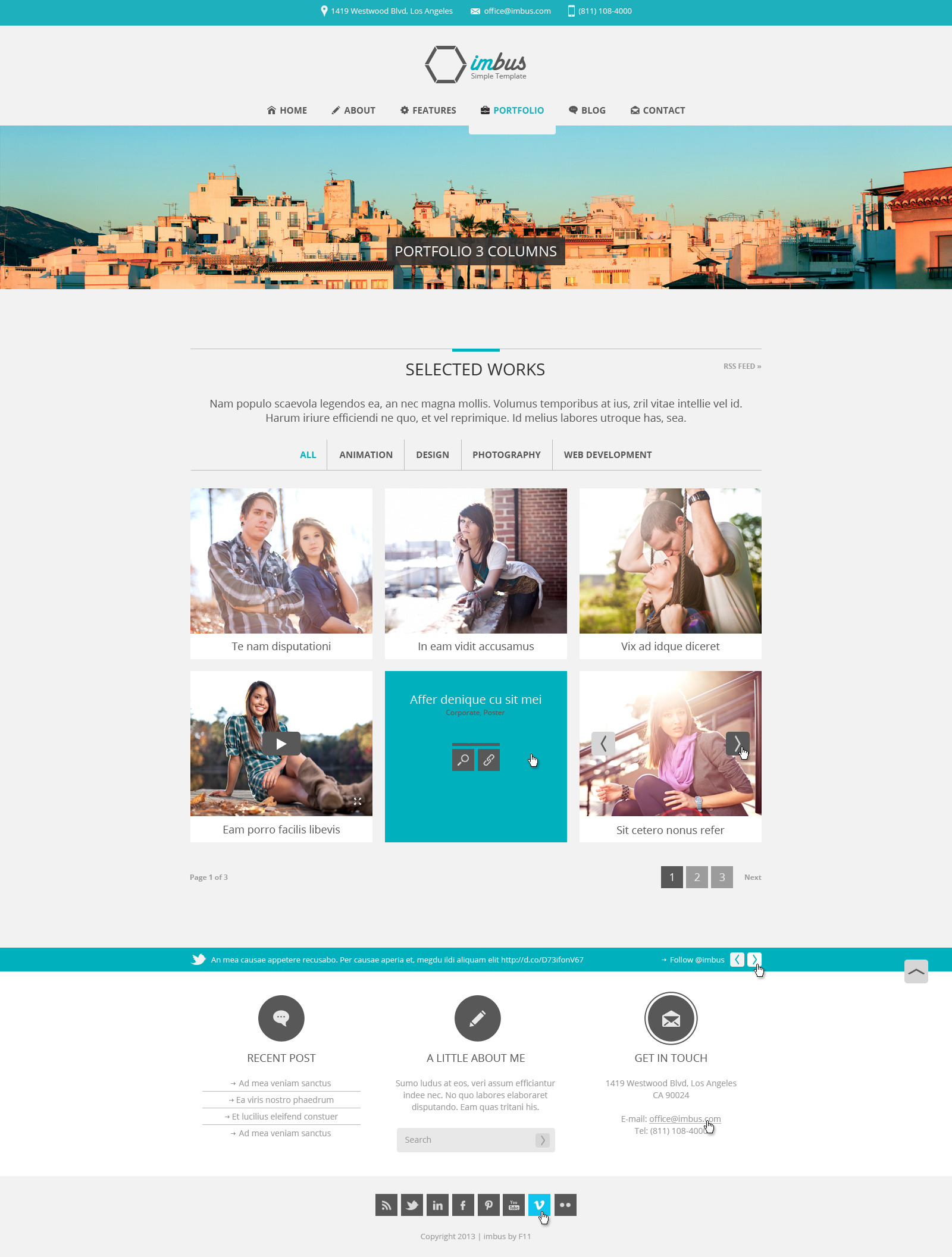 imbus - Simple PSD Template - imbus - Simple PSD Template.  Portfolio with 3 columns.