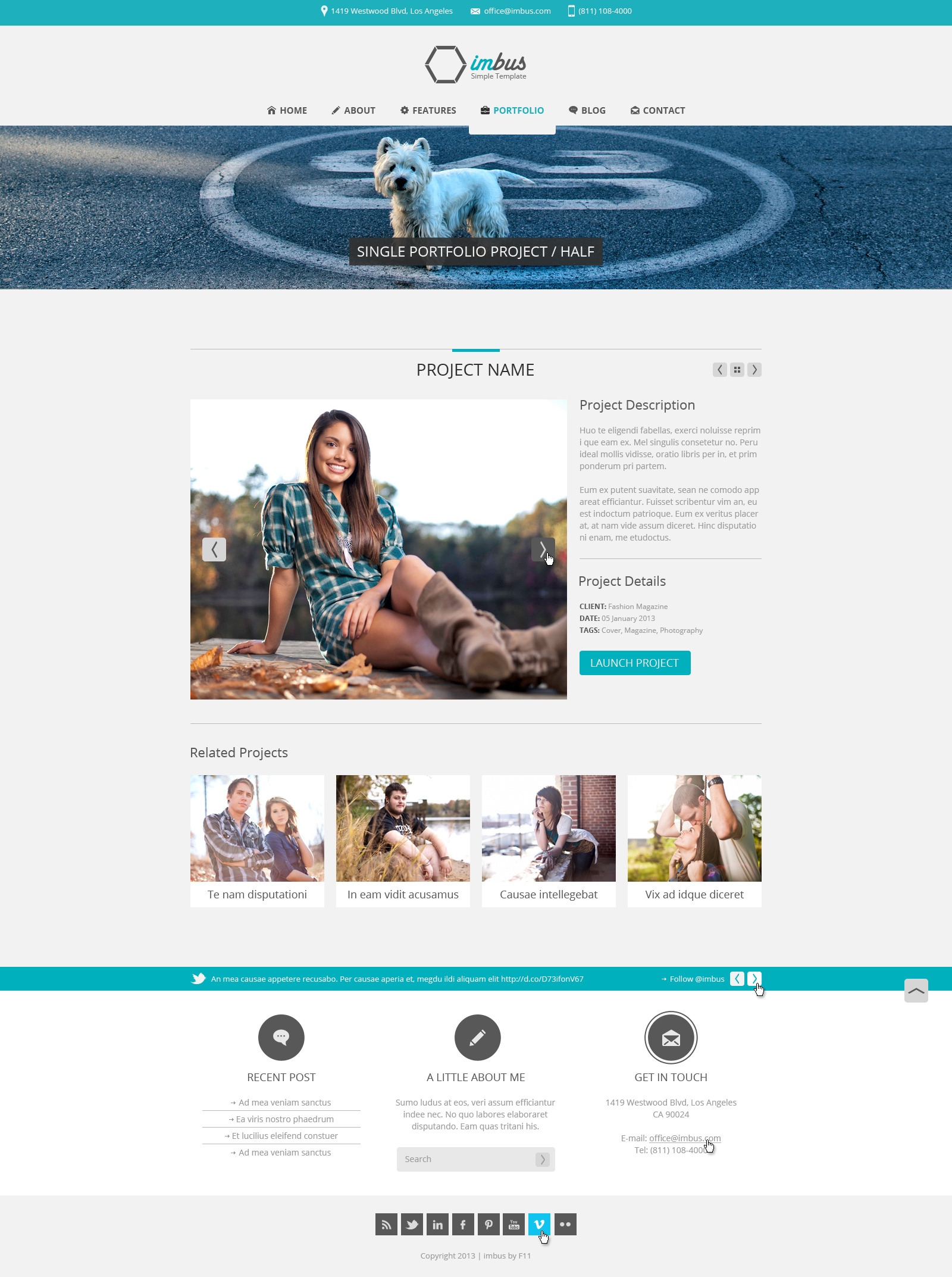 imbus - Simple PSD Template - imbus - Simple PSD Template.  Portfolio single project - half.
